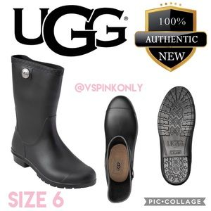 UGG rain boots for women / Black / Size 6
